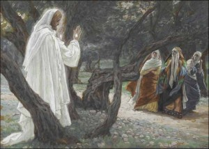 Jesus Appears to the Holy Women, by Tissot